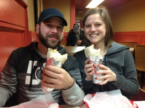 Corinne and Dave at El Farolito