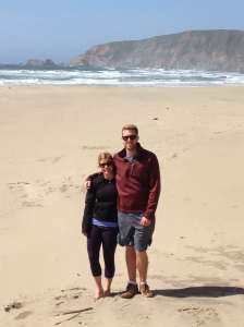 Andrew and I on Kehoe Beach in Pt. Reyes