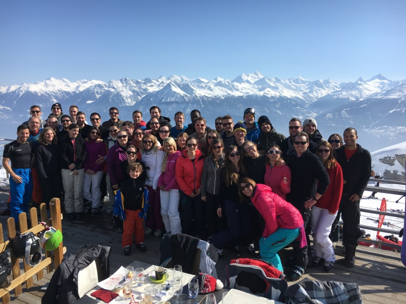 Ski weekend group photo