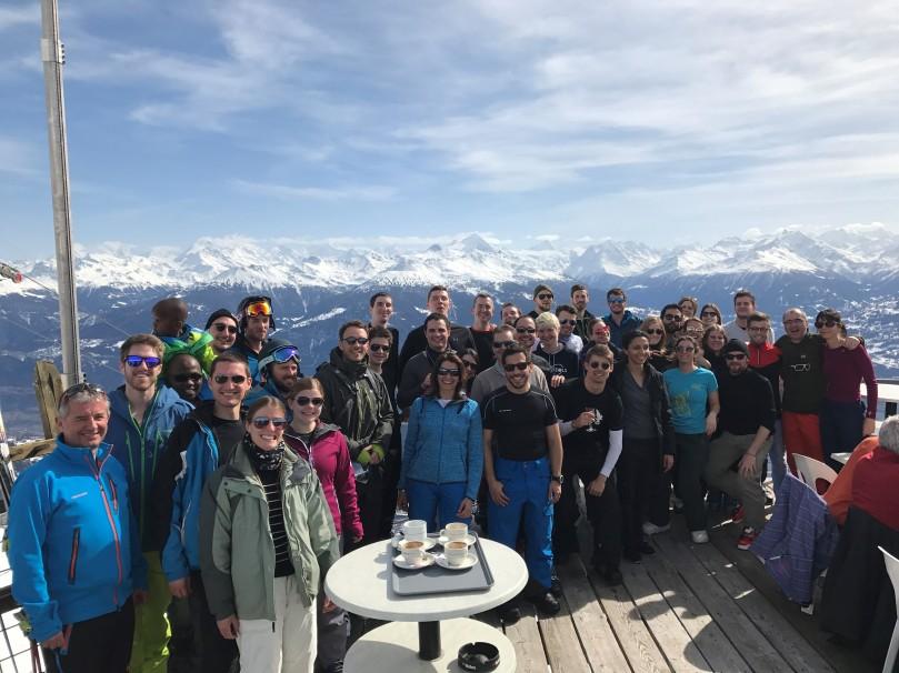 KPMG Ski weekend 2017 - group shot