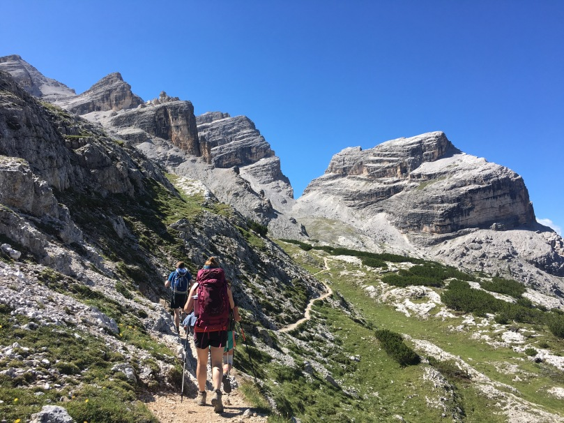 Dolomites long hike day