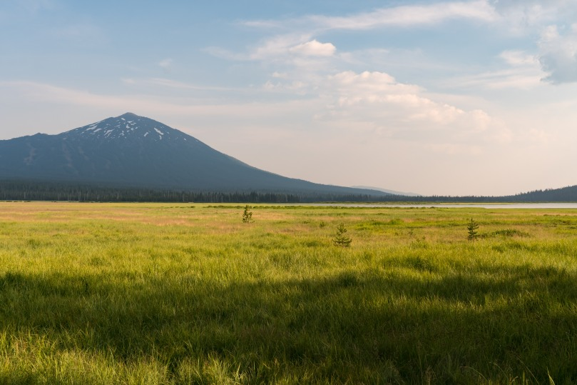Mt Bachelor from Sparks Lake